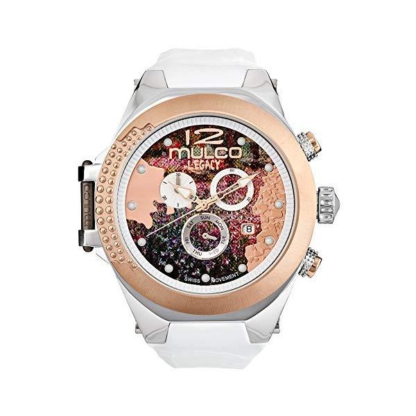 マルコ 腕時計 MULCO MW5-3700-013 レディース 女性用 ウォッチ Mulco Legacy Impresionism Swiss Chronograph Movement Women's Watch   Premium Sundial Display Rose Gold Accents   100% Silicone Watch Band   Water Resistant