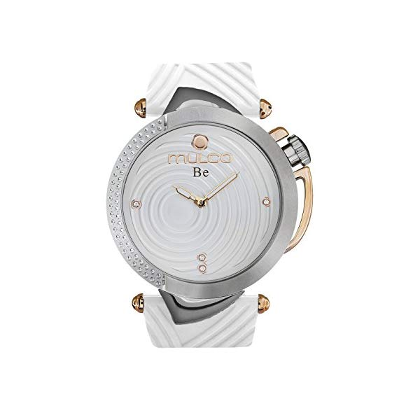 マルコ 腕時計 MULCO MW5-4822-011 ウォッチ Mulco Be Zen Swiss Quartz Women's Watch | Premium Mother of Pearl Sundial Display with Rose Gold and Swarovsky Accents | White Watch Band | Water Resistant Stainless Steel Watch MW5-4822-011