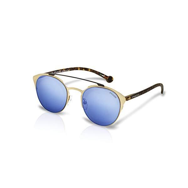 マルコ サングラス MULCO C033-184 Mulco Leaf Cat C033-184 Carey Frame / Blue Lens 50 mm Sunglasses