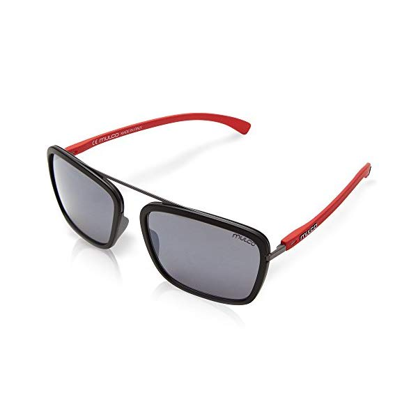 マルコ サングラス MULCO ROPE DROPE C025 Mulco Viper SQ C165 Black and Red Frame / Black Lens 48 mm Sunglasses