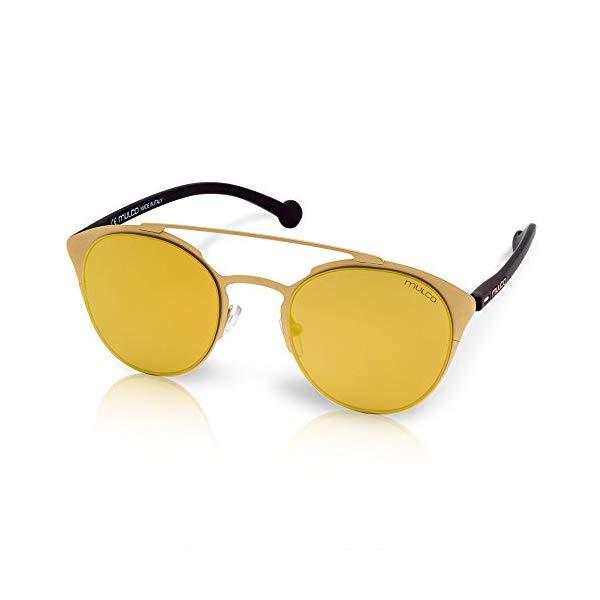 マルコ サングラス MULCO Leaf Cat C022 Mulco Leaf Cat C022 Gold Frame / Gold Lens 48 mm Cat Eye Sunglasses