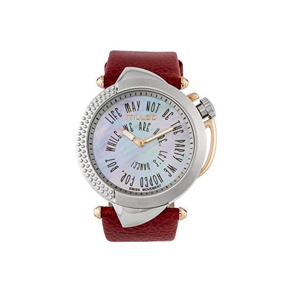 マルコ 腕時計 MULCO MW5-4241-025 レディース 女性用 ウォッチ Mulco Be Sassy Quartz Swiss Analog Women's Watch | Mother of Pearl Sundial with Rose Gold Accents | Leather Watch Band | Water Resistant Stainless Steel Watch