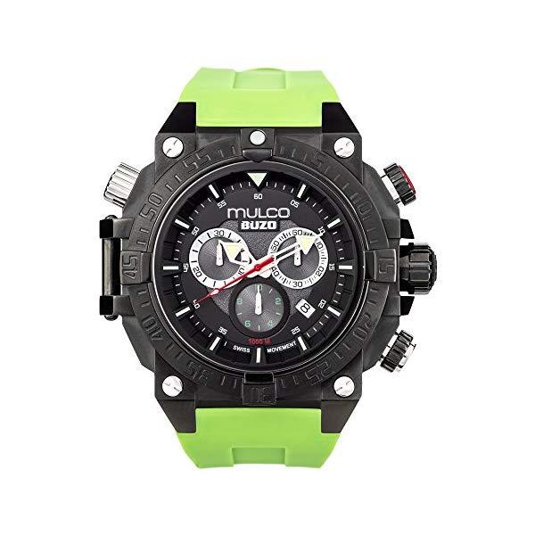 マルコ 腕時計 MULCO MB6-92565-465 メンズ 男性用 ウォッチ Mulco Buzo Dive Quartz Swiss Chronograph Movement Men's Watch | Premium Analog Display with Steel Accent | Green Watch Band | Water Resistant Stainless Steel Watch |Ion-Plated MB6-92565-465