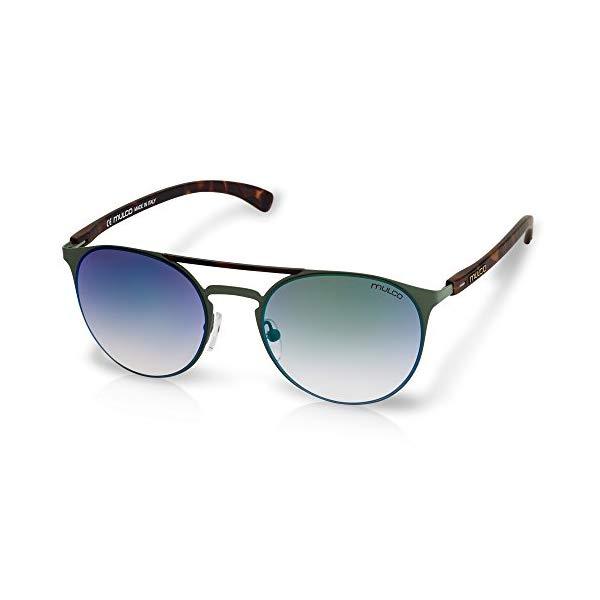 マルコ サングラス MULCO Illusion Cube C2 Mulco Illusion Cube C2 Green Frame / Gradient Green Lens 50 mm Sunglasses
