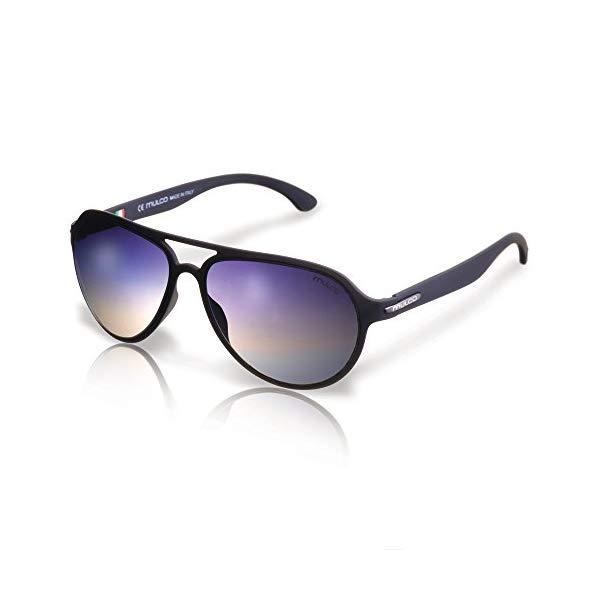 マルコ サングラス MULCO Flow PT C1 Mulco Flow PT C1 Black Frame / Black Lens 48 mm Oval Sunglasses