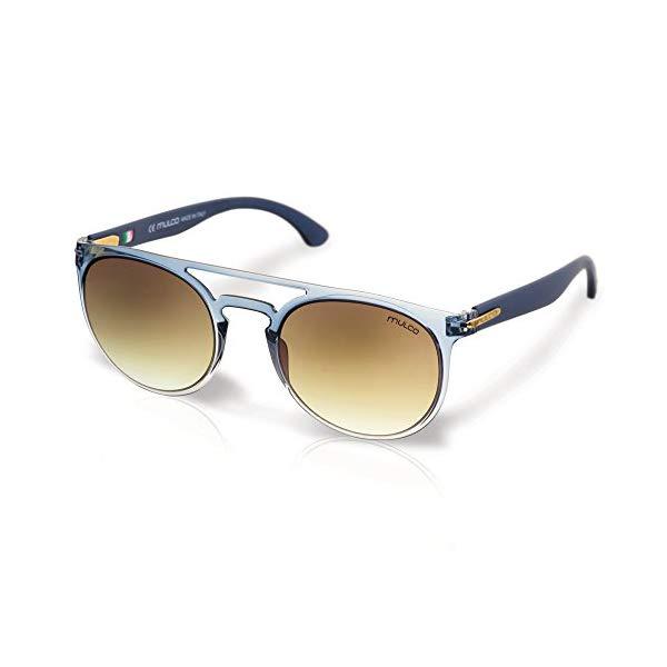 マルコ サングラス MULCO Flow RD C8 Mulco Flow RD C8 Blue Frame / Brown Lens 48 mm Round Sunglasses