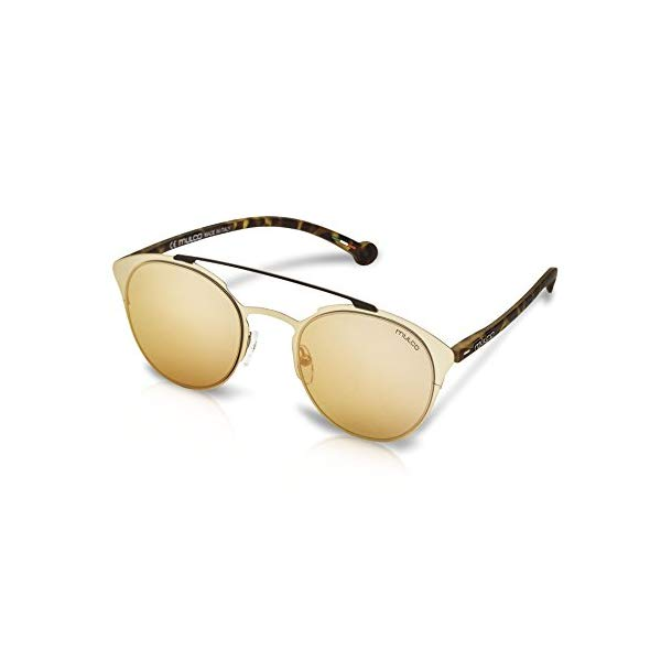 マルコ サングラス MULCO Leaf Cat C183 Mulco Leaf Cat Gold Frame / Pink Lens 48 mm Round Sunglasses