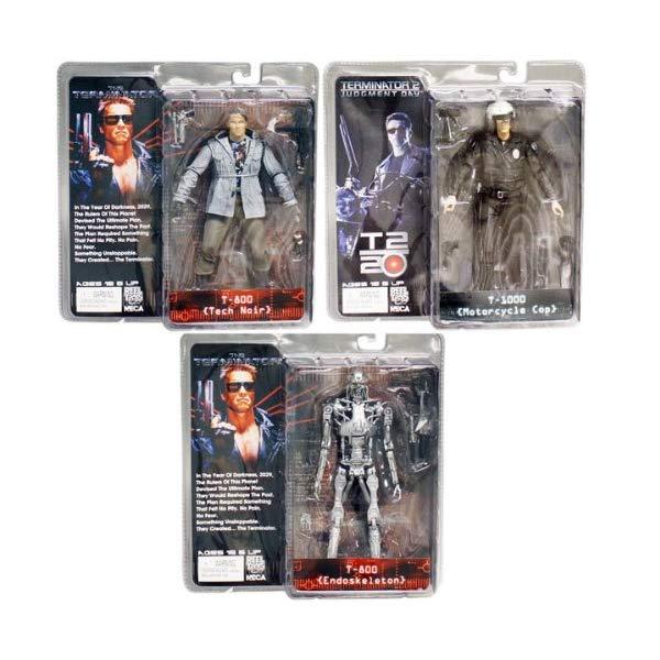 ターミネーター アクション フィギュア 人形 ネカ NECA Terminator Series 1 Set of 3 Action Figures T800, T1000 Endoskeleton