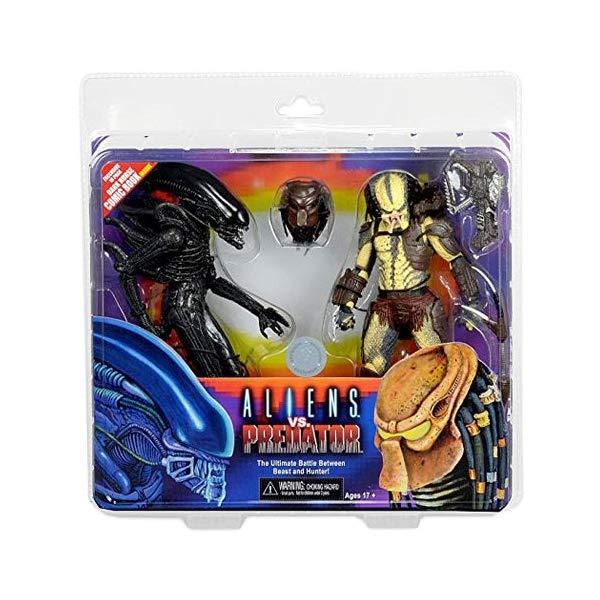 プレデター アクション フィギュア 人形 ネカ Alien vs. Predator 7 Inch Action Figure 2 Pack with Mini Comic