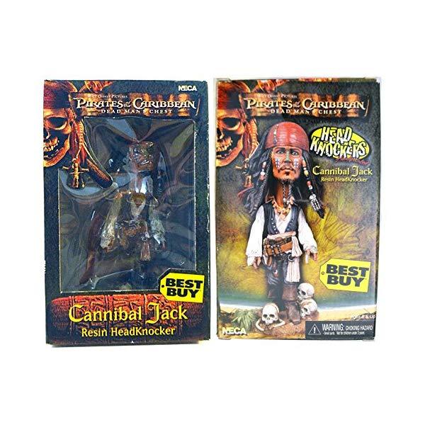 パイレーツオブカリビアン アクション フィギュア 人形 ネカ Pirates of the Caribbean Dead Man's Chest Cannibal Jack Resin Head Knocker