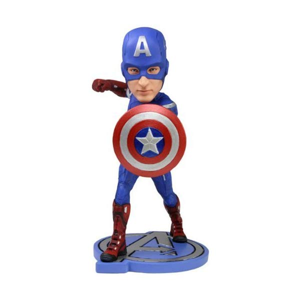 キャプテンアメリカ アヴェンジャーズ アクション フィギュア 人形 ネカ NECA Avengers Movie Captain America Headknocker