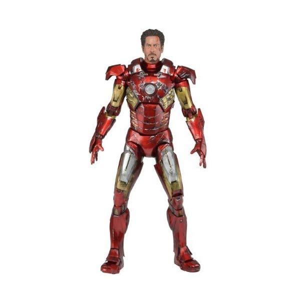 アイアンマン アヴェンジャーズ アクション フィギュア 人形 ネカ Avengers 1/4 scale [ Iron Man Mark VII ( Battle damage ver.) [ Import version ]