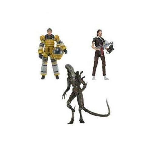 エイリアン アクション フィギュア 人形 ネカ Neca Aliens Amanda (Spacesuit), Xenomorph, Amanda (Jumpsuit) Series 6 Assortment Set of 3