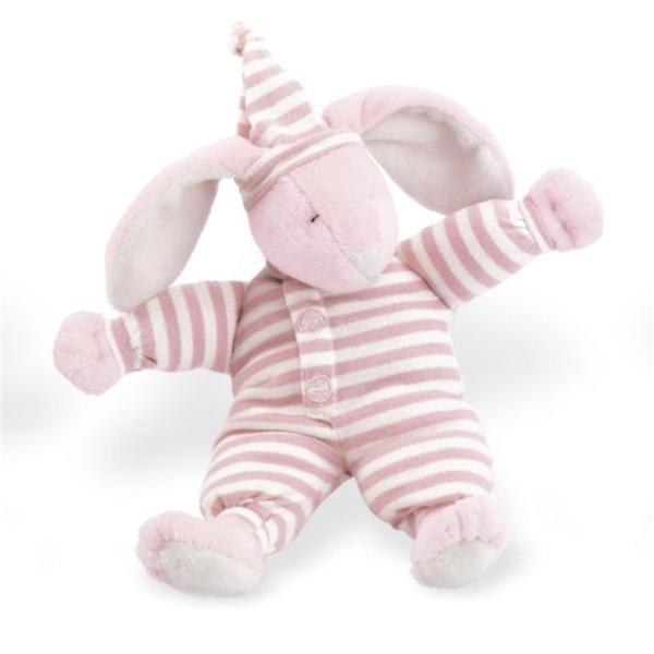 ノースアメリカンベア North American Bear Sleepyhead Bunny Rattle, Pink ぬいぐるみ ベビー トイ
