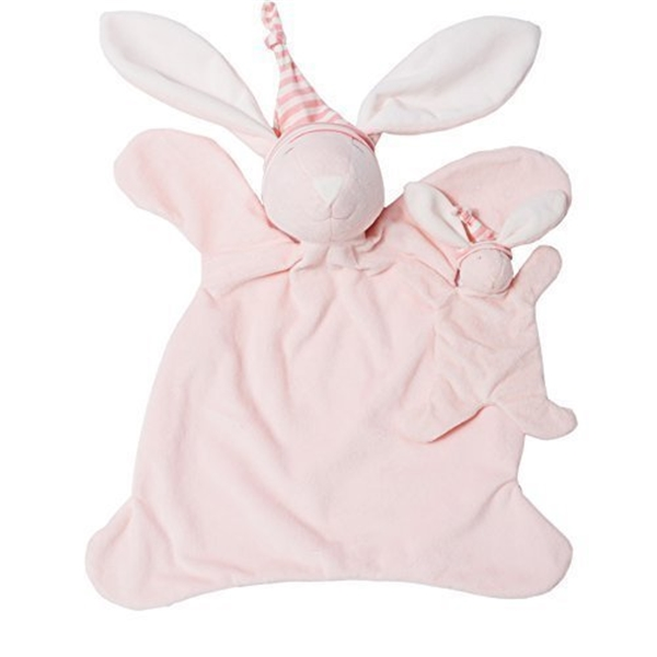 ノースアメリカンベア North American Bear Sleepyhead Bunny Jumbo Baby Cozy Set, ピンク by North American Bear ぬいぐるみ ベビー トイ