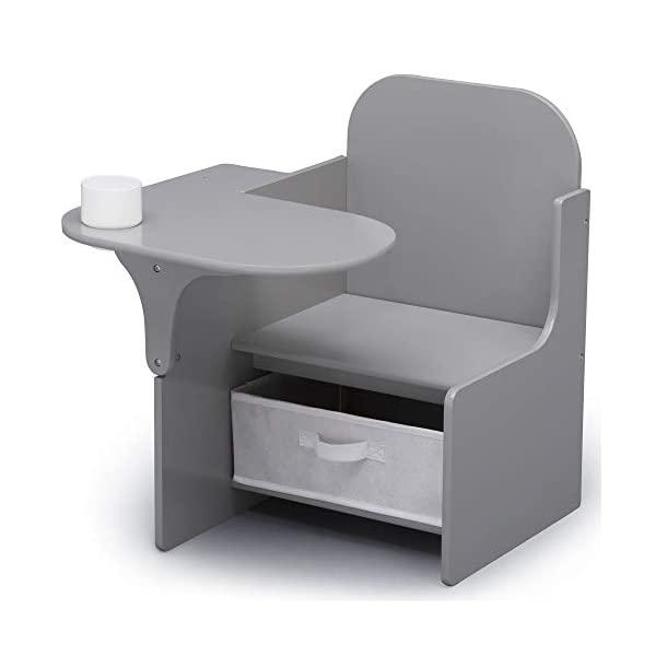 キッズデスク チャイルドデスク キッズチェア デスクセット 子供用 勉強机 子供机 入学祝 入園祝 卒園祝 お誕生日 プレゼント 自宅学習 Delta Children MySize Chair Desk with Storage Bin, Grey