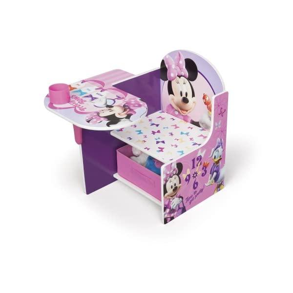 ミニー デイジー ディズニー キッズデスク チャイルドデスク キッズチェア デスクセット 子供用 勉強机 子供机 入学祝 入園祝 卒園祝 お誕生日 プレゼント 自宅学習 Delta Children Chair Desk with Storage Bin, Disney Minnie Mouse