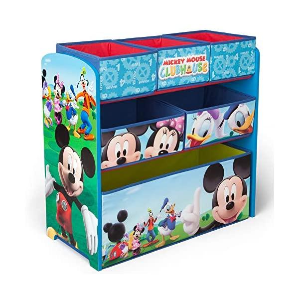 ミッキー ミニー ドナルド デイジー グーフィー ディズニー おもちゃ 収納 おもちゃ箱 お片付け ラック 棚 収納 キッズ ボックス 子供 部屋 入学祝 入園祝 卒園祝 お誕生日 プレゼント Delta Children 6-Bin Toy Storage Organizer, Disney Mickey Mouse