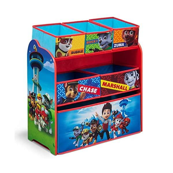 パウパトロール おもちゃ 収納 おもちゃ箱 お片付け トイハウスラック スリム ラック 棚 収納 キッズ ボックス 子供 部屋 おしゃれ 入学祝 入園祝 卒園祝 お誕生日 プレゼント Delta Children 6-Bin Toy Storage Organizer, Nick Jr. PAW Patrol