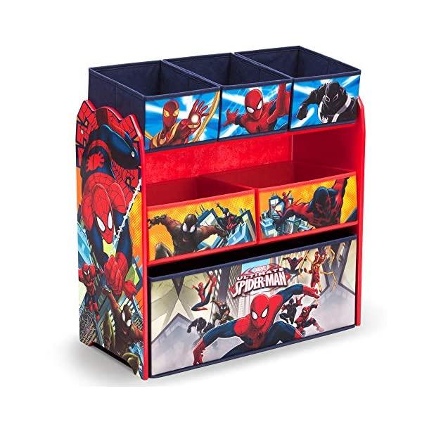 スパイダーマン おもちゃ 収納 おもちゃ箱 お片付け トイハウスラック スリム ラック 棚 収納 キッズ ボックス 子供 部屋 おしゃれ 入学祝 入園祝 卒園祝 お誕生日 プレゼント Delta Children 6-Bin Toy Storage Organizer, Spider-Man