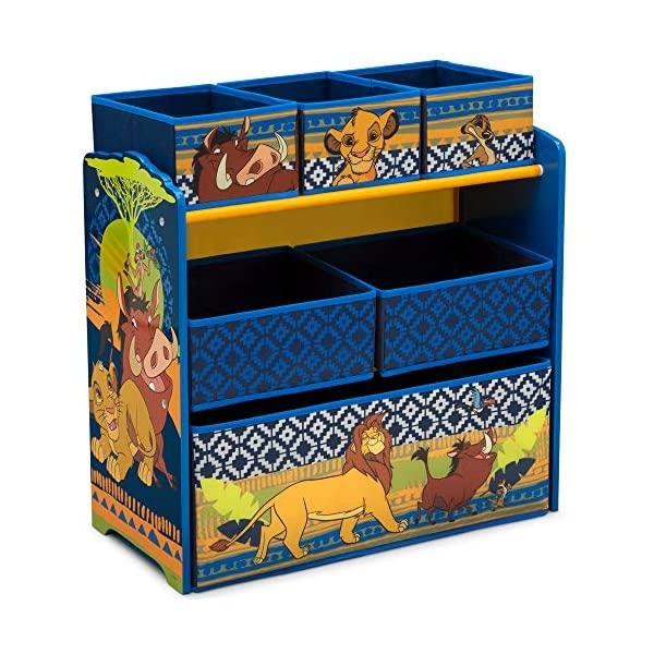 ライオンキング シンバ ディズニー おもちゃ 収納 おもちゃ箱 お片付け ラック 棚 収納 キッズ ボックス 子供 部屋 おしゃれ 入学祝 入園祝 卒園祝 お誕生日 プレゼント Delta Children Design and Store 6-Bin Toy Storage Organizer, Disney The Lion King