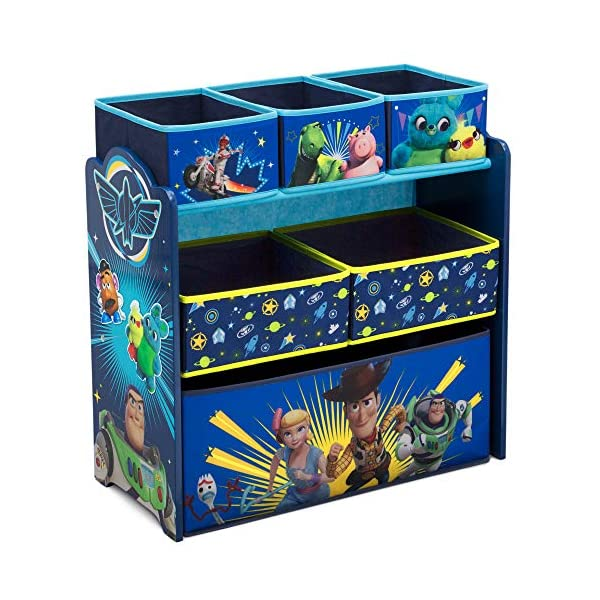 トイストーリー4 ウッディー バズ ディズニー ピクサー おもちゃ 収納 おもちゃ箱 お片付け ラック 棚 収納 キッズ ボックス 子供 部屋 入学祝 入園祝 卒園祝 お誕生日 プレゼント Delta Children Design and Store 6-Bin Toy Storage Organizer, Disney/Pixar Toy Story 4