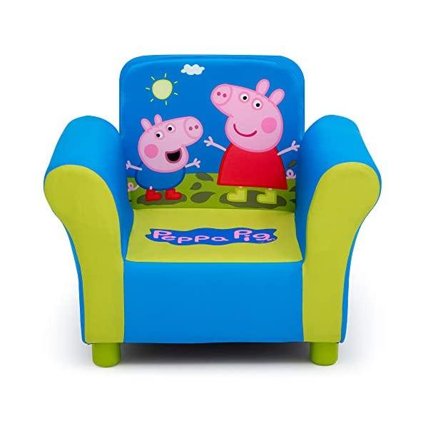 ペッパピッグ キッズチェア ソファ ローチェア 子供椅子 キッズソファ 入学祝 入園祝 卒園祝 お誕生日 プレゼント 自宅学習 Delta Children Upholstered Chair, Peppa Pig