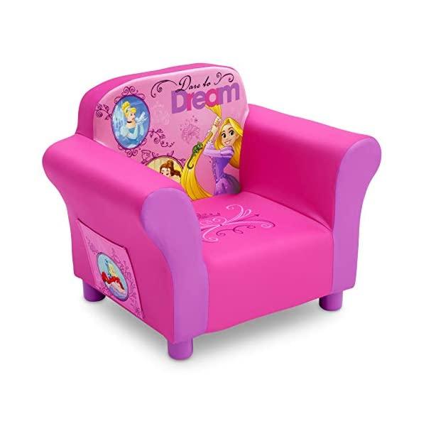 ディズニープリンセス ラプンツェル ベル ディズニー キッズチェア ソファ ローチェア 子供椅子 キッズソファ 入学祝 入園祝 卒園祝 お誕生日 プレゼント 自宅学習 Delta Children Upholste赤 Chair, Disney Princess