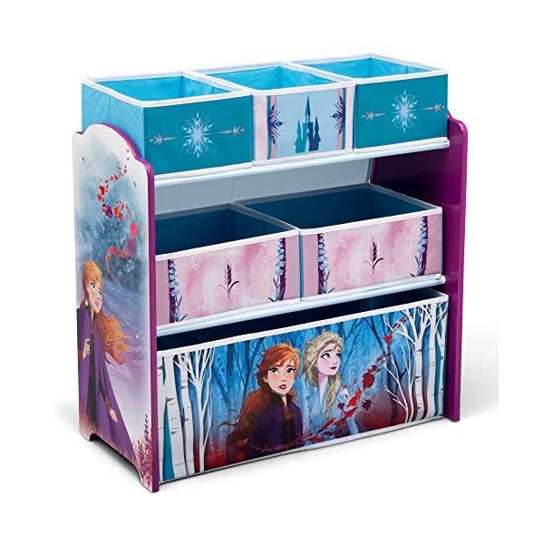 アナと雪の女王2 エルサ ディズニー おもちゃ 収納 おもちゃ箱 お片付け ラック 棚 収納 キッズ ボックス 子供 部屋 おしゃれ 入学祝 入園祝 卒園祝 お誕生日 プレゼント Delta Children Design & Store 6 Bin Toy Storage Organizer, Disney Frozen II