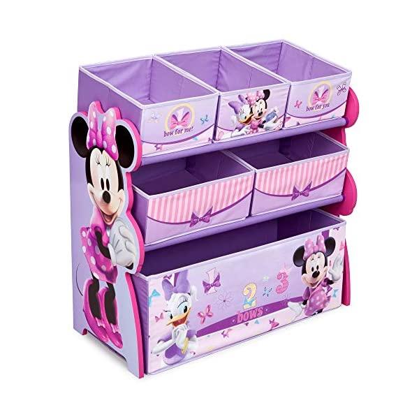 ミニー デイジー ディズニー おもちゃ 収納 おもちゃ箱 お片付け ラック 棚 収納 キッズ ボックス 子供 部屋 おしゃれ 入学祝 入園祝 卒園祝 お誕生日 プレゼント Delta Children 6-Bin Toy Storage Organizer, Disney Minnie Mouse