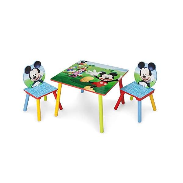 ミッキーマウス ディズニー キッズチェア テーブルセット ローチェア 子供椅子 子供用 勉強机 子供机 キッズ 入学祝 入園祝 卒園祝 お誕生日 プレゼント 自宅学習 Delta Children Kids Table and Chair Set (2 Chairs Included), Disney Mickey Mouse