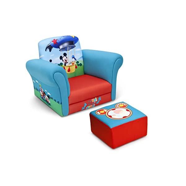 新作送料無料 ミッキーマウス ディズニー キッズチェア ソファ ローチェア 子供椅子 キッズソファ 入学祝 入園祝 今季も再入荷 卒園祝 お誕生日 Upholstered Mouse 自宅学習 with プレゼント Ottoman Mickey Chair Children Delta Disney