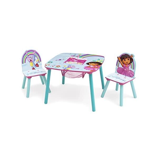 ドーラといっしょに大冒険 キッズデスク チャイルドデスク キッズチェア 子供椅子 デスクセット 子供用 勉強机 学習机 子供机 入学祝 入園祝 卒園祝 お誕生日 プレゼント 自宅学習 Delta Children Kids Chair Set and Table (2 Chairs Included), Nick Jr. Dora