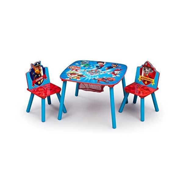 パウパトロール キッズデスク チャイルドデスク キッズチェア 子供椅子 デスクセット 子供用 勉強机 学習机 子供机 入学祝 入園祝 卒園祝 お誕生日 プレゼント 自宅学習 Delta Children Kids Chair Set and Table (2 Chairs Included), Nick Jr. PAW Patrol