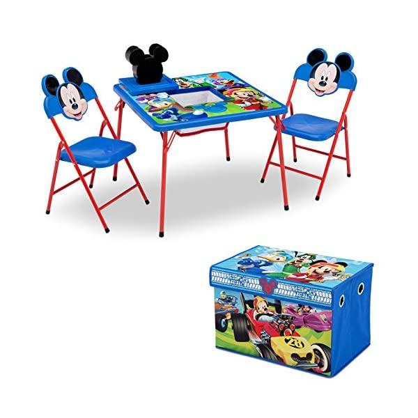 ミッキーマウス ディズニー キッズデスク キッズチェア デスクセット 勉強机 学習机 子供机 収納ボックス お片付け おもちゃ箱 入学祝 入園祝 卒園祝 お誕生日 プレゼント 自宅学習 Delta Children 4-Piece Kids Furniture Set, Disney Mickey Mouse