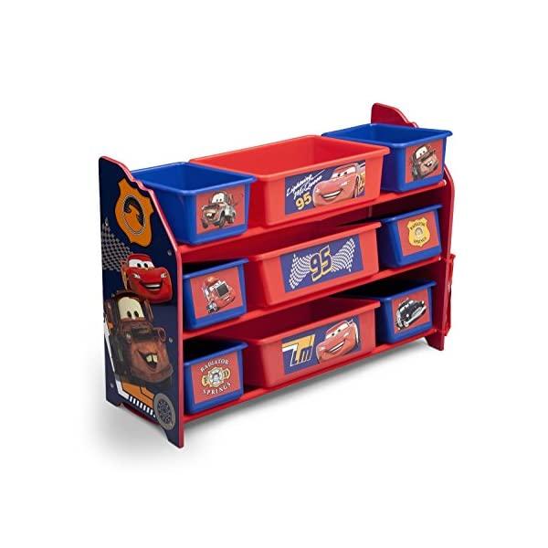 カーズ ディズニー ピクサー おもちゃ 収納 おもちゃ箱 お片付け スリム ラック 棚 収納 キッズ ボックス 子供 部屋 おしゃれ 入学祝 入園祝 卒園祝 お誕生日 プレゼント Delta Children 9 Bin Plastic Organizer, Disney/Pixar Cars