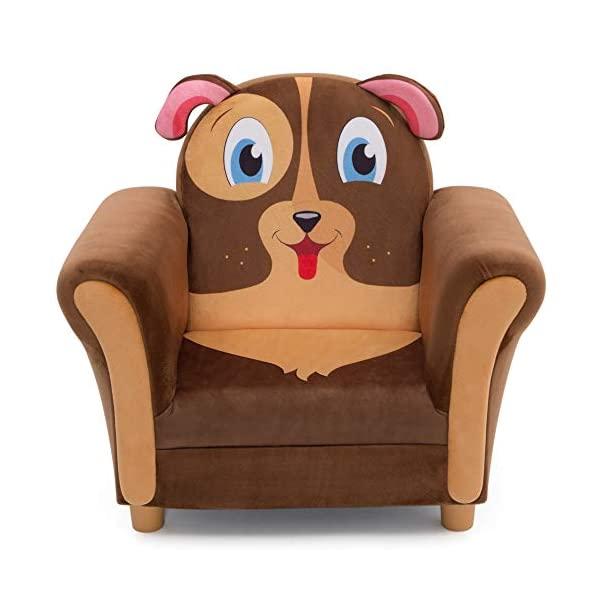 犬 イヌ ドッグ キッズチェア ソファ ローチェア 子供椅子 キッズソファ 入学祝 入園祝 卒園祝 お誕生日 プレゼント 自宅学習 Delta Children Cozy Children's Chair - Fun Animal Character, Brown Puppy