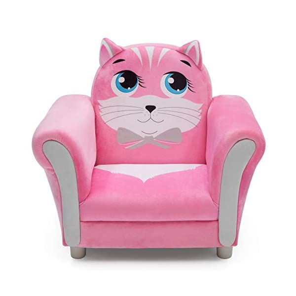 猫 ネコ キャット キッズチェア ソファ ローチェア 子供椅子 キッズソファ 入学祝 入園祝 卒園祝 お誕生日 プレゼント 自宅学習 Delta Children Cozy Children's Chair - Fun Animal Character, Pink Kitten