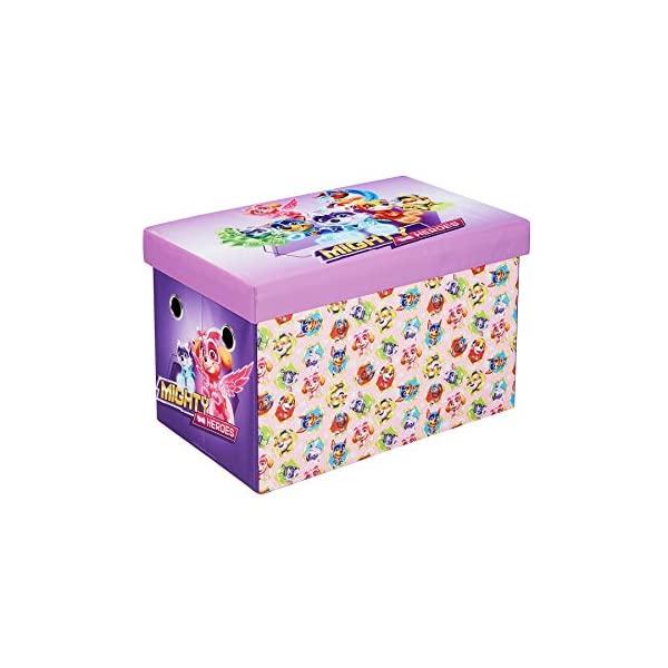 パウパトロール 女の子 おもちゃ 収納 おもちゃ箱 お片付け 収納 キッズ ボックス 子供 部屋 おしゃれ 入学祝 入園祝 卒園祝 お誕生日 プレゼント Paw Patrol Skye Storage Bench, 24