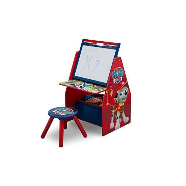 パウパトロール お絵かき ホワイトボード デッサン キッズ デスク 子供机 椅子 セット おもちゃ箱 お片付け 収納 キッズ ボックス 子供 部屋 入学祝 入園祝 卒園祝 お誕生日 プレゼント Delta Children Activity Center with Easel Desk, Stool, Toy Organizer, PAW Patrol