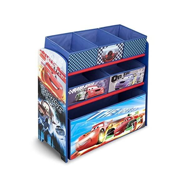 カーズ ディズニー ピクサー おもちゃ 収納 おもちゃ箱 お片付け スリム ラック 棚 収納 キッズ ボックス 子供 部屋 おしゃれ 入学祝 入園祝 卒園祝 お誕生日 プレゼント Delta Children Multi-Bin Toy Organizer, Disney/Pixar Cars