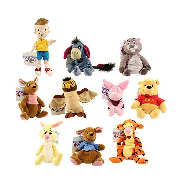 ディズニー プーと大人になった僕 くまのプーさん ぬいぐるみ セット Disney Bean Bag Plush - WINNIE THE POOH SET OF 10 (Pooh, Tigger, Roo, Eeyore, Piglet, Kanga +4)