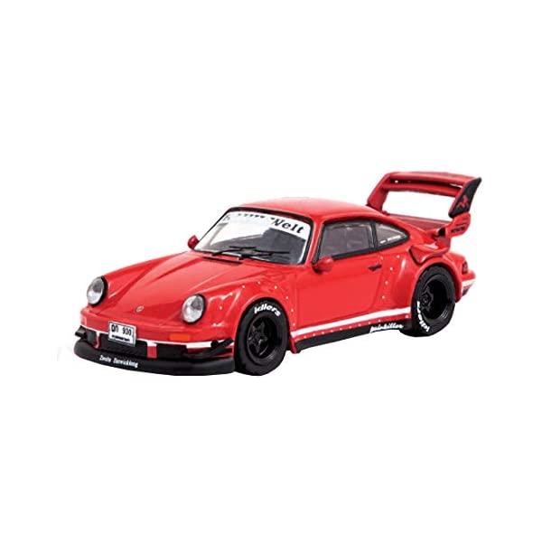 ポルシェ 911 930 モデルカー ダイキャスト 模型 ミニカー グッズ 納車祝い プレゼント インテリア スーパーカー Porsche オンラインショップ RWB Painkiller Tarmac Version Car 64 Model T64-015-RE2 限定価格セール BEGRIFF Red by Works 2 RAUH-Welt Diecast 1