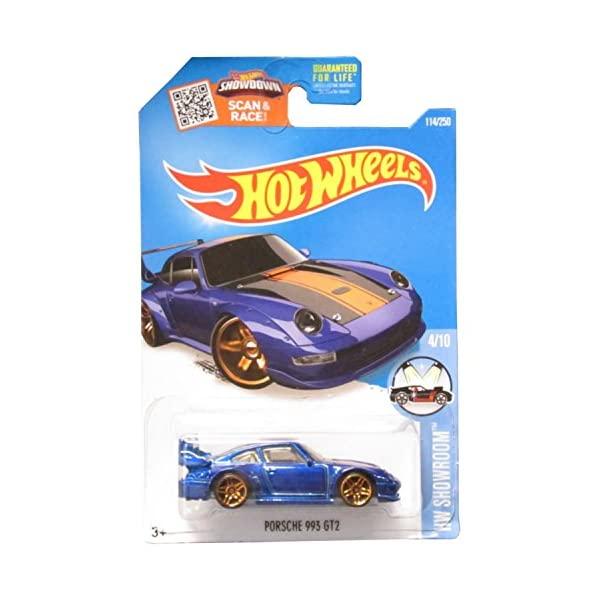 ポルシェ 993 GT2 ホットウィール モデルカー ダイキャスト 模型 ミニカー グッズ 納車祝い 全商品オープニング価格 ☆正規品新品未使用品 プレゼント インテリア 2016 HW スーパーカー Showroom Porsche 250 114 Wheels Hot Blue