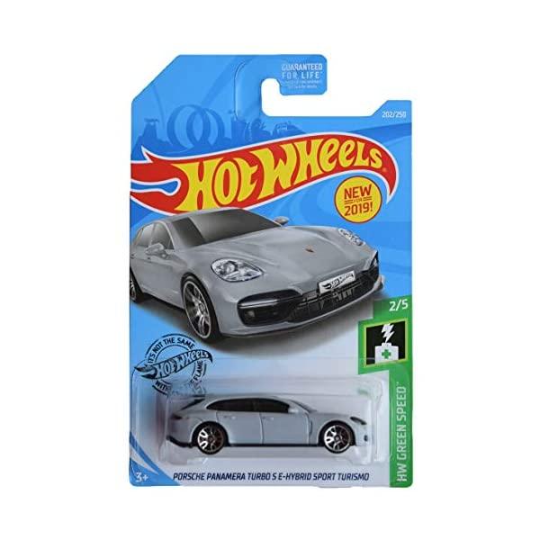 ポルシェ パナメーラ ホットウィール モデルカー ダイキャスト 注目ブランド 模型 ミニカー グッズ 納車祝い プレゼント インテリア スーパーカー 待望 Hot Wheels Green Sport Turbo Porsche 2 Panamera 250 Gray 202 E Series Hybird Turismo S 5 Speed