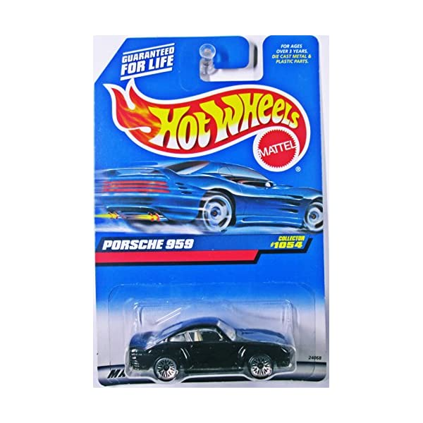 ポルシェ 959 今季も再入荷 マテル ホットウィール モデルカー ダイキャスト 模型 ミニカー グッズ 納車祝い 全国どこでも送料無料 プレゼント インテリア スーパーカー 1:64 Cast Porsche Scale Hot Car Die #1054 Collector 1999 Wheels Black Mattel