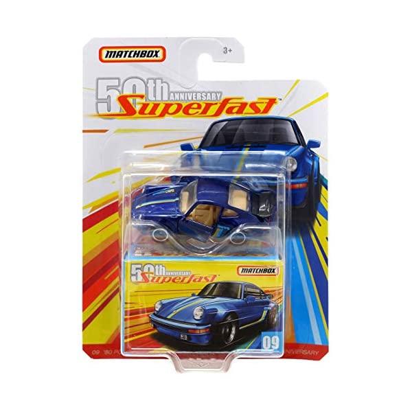 ポルシェ 911 モデルカー ダイキャスト 模型 ミニカー グッズ 納車祝い プレゼント インテリア スーパーカー Anniversary Fast Turbo 訳あり品送料無料 Matchbox '80 安心と信頼 Porsche Super 50th