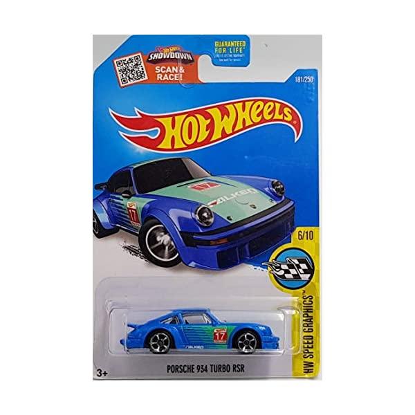 ポルシェ 934 ターボ ホットウィール モデルカー ダイキャスト 模型 ミニカー グッズ 納車祝い プレゼント インテリア スーパーカー Turbo Blue RSR 181 Graphics 未使用 Speed Porsche 付与 250 Wheels 2016 Hot HW