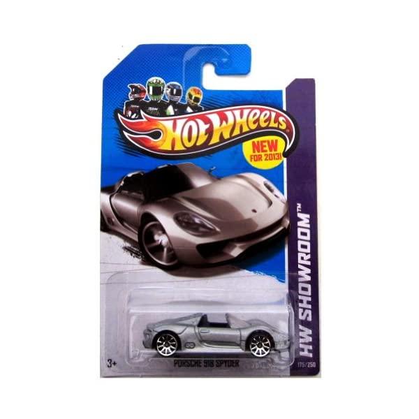 ポルシェ 918 スパイダー ホットウィール モデルカー 期間限定 ダイキャスト 模型 ミニカー グッズ 与え 納車祝い プレゼント インテリア Showroom Porsche Scale Wheels 2013-175 Hot SILVER Spyder 1:64 HW スーパーカー
