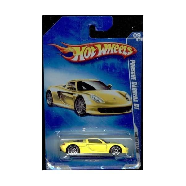 ポルシェ カレラGT ホットウィール モデルカー ダイキャスト 模型 ミニカー グッズ 納車祝い プレゼント 受注生産品 インテリア 予約販売品 スーパーカー Hot Wheels 2009-09 10 Collectible Scale Toy 155 YELLOW Dream Car Porsche Die Carrera GT Garage Cast 1:64 Metal Model